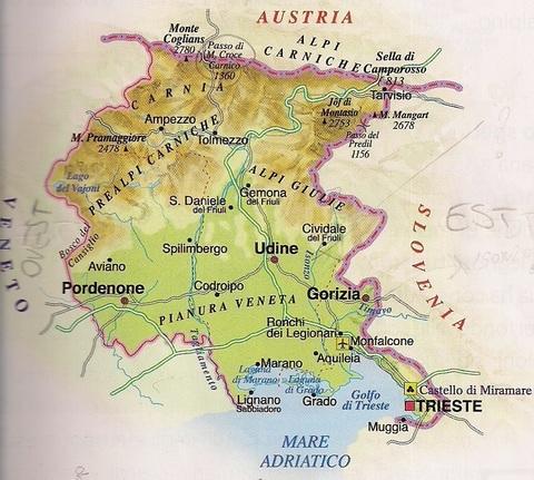 Cartina Geografica Veneto E Friuli Venezia Giulia.La Cartina Geografica Della Vergogna Il Libro Di Scuola Della Quinta Elementare E Pieno Di Errori Il Mattino It