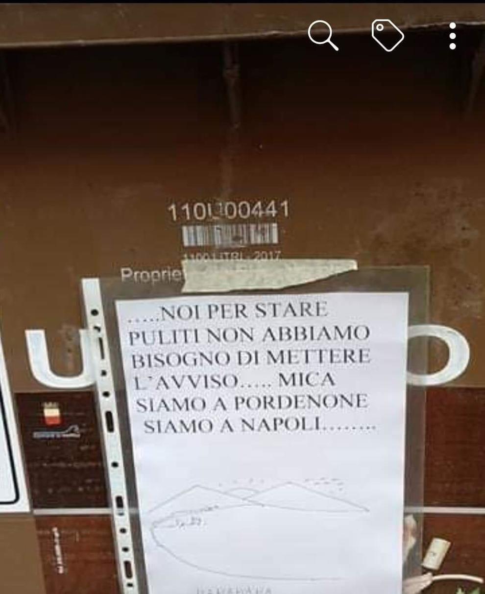 Rifiuti, l'ironica risposta dei napoletani ?a Pordenone diventa virale