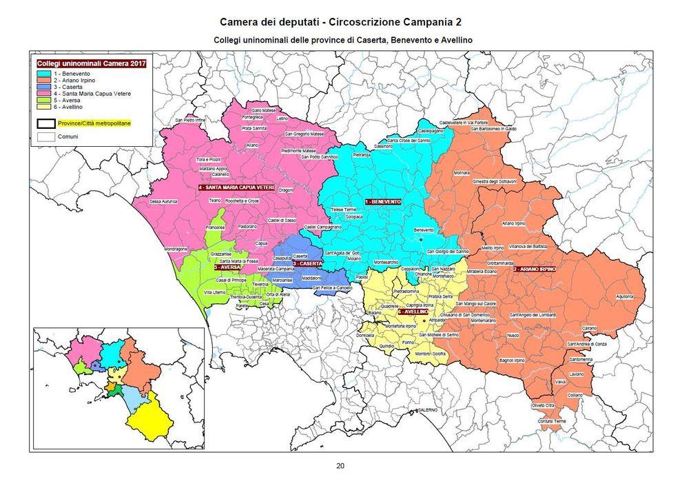 Collegi uninominali camera campania benevento il mattino - Piscine caserta e provincia ...