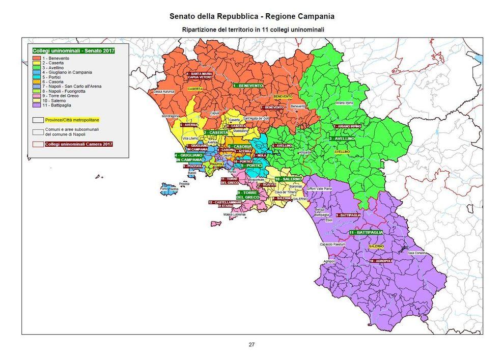 Collegi uninominali senato campania 11 agropoli battipaglia il mattino - Regione campania piano casa ...