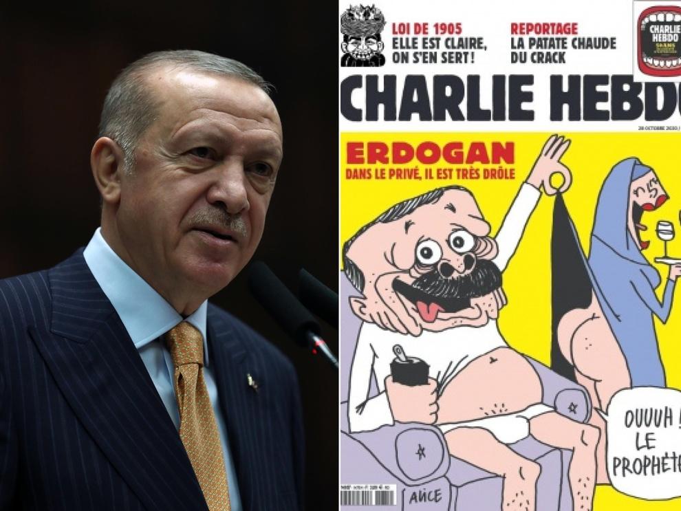 Erdogan querela Charlie Hebdo per la vignetta in copertina: «Attacco  ignobile, sono canaglie» - Il Mattino.it