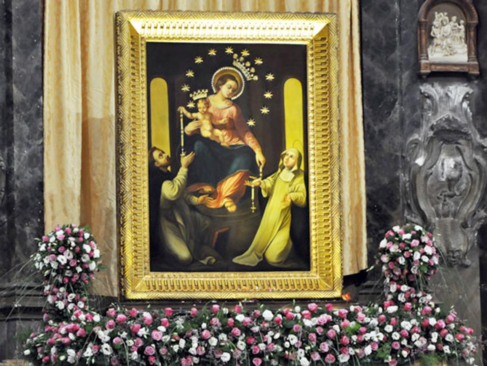 Il quadro della Madonna di Pompei a San Giovanni Rotondo