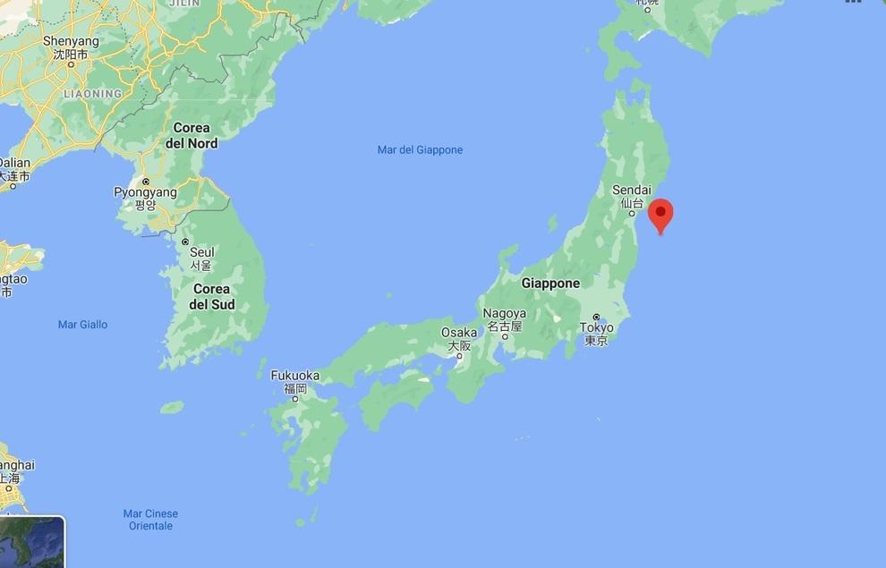 Cartina Giappone In Italiano.Terremoto In Giappone Di 7 1 Non Lontano Da Fukushima Rischio Tsunami Il Mattino It
