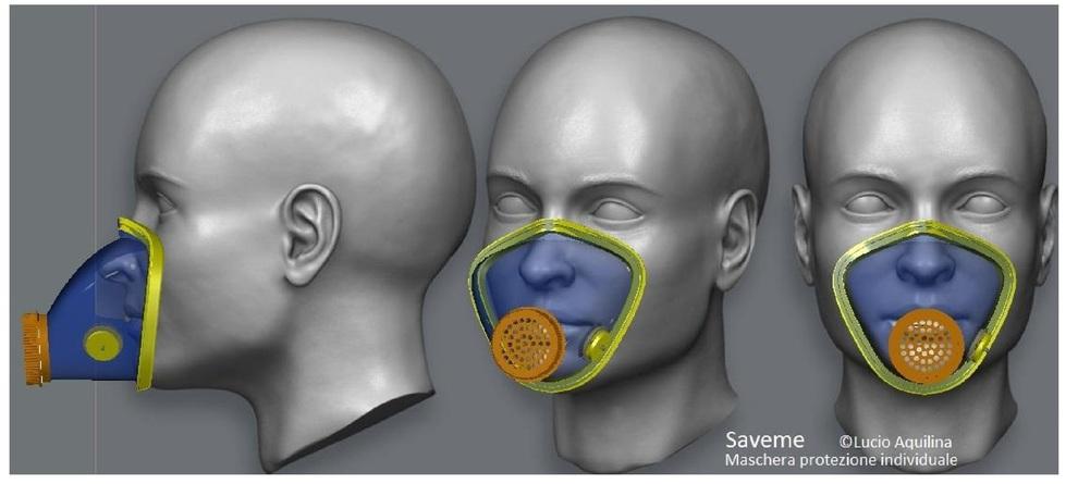 maschera di protezione virus