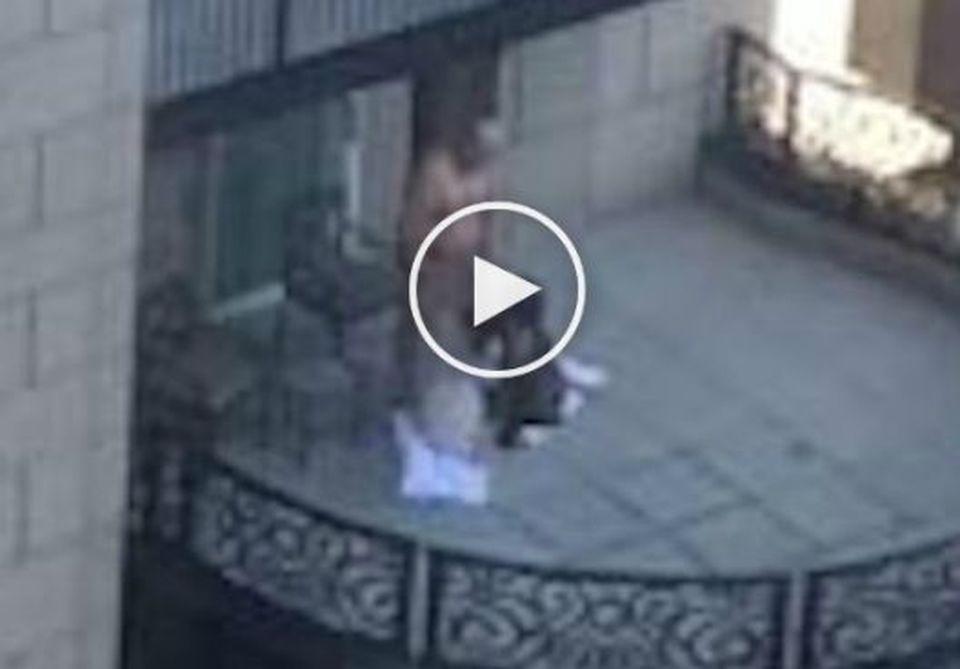 Sesso a tre sul balcone dell\'hotel di lusso, il video hot sul web ...