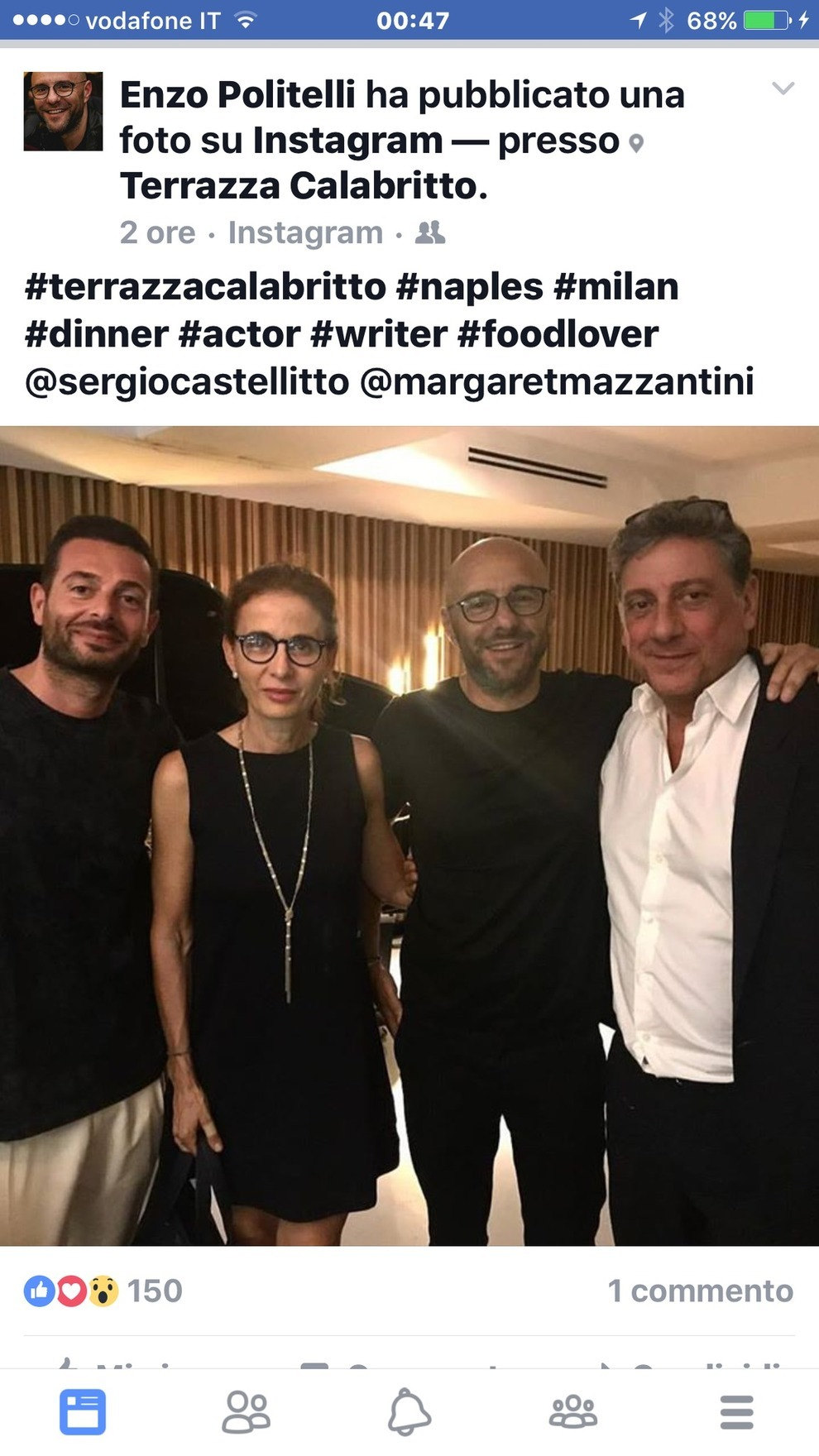 Serata Napoletana Per Sergio Castellitto E Margaret