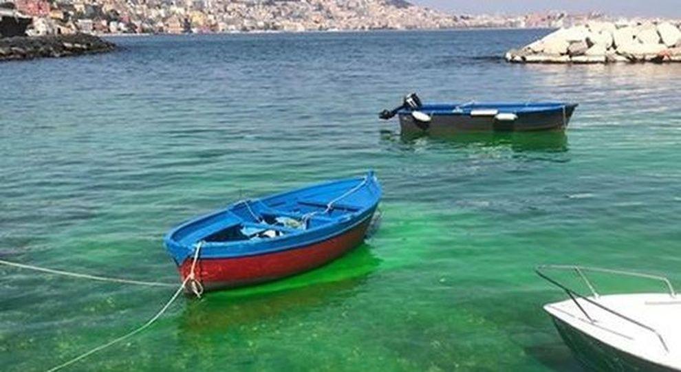Il mare di napoli verde smeraldo ma sono sversamenti for Il mattino di napoli cronaca