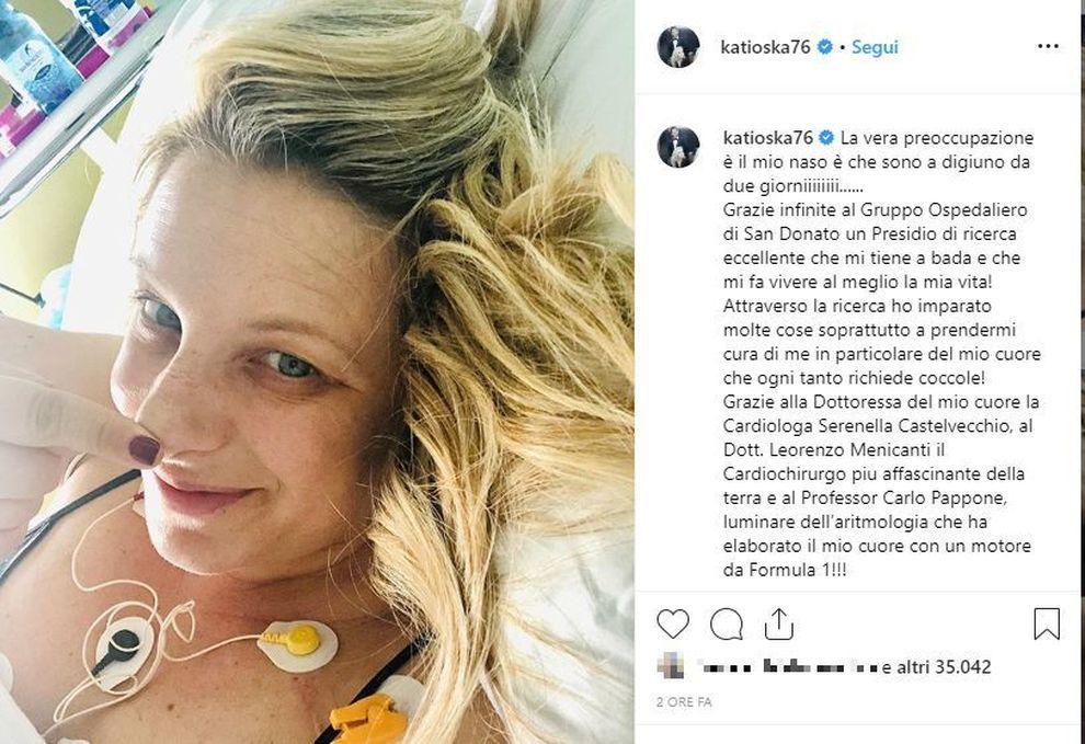Katia Follesa Ricoverata In Ospedale Il Mio Cuore Richiede Coccole Il Mattino It