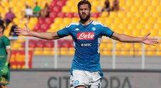 Live Lecce-Napoli 1-4: standing ovation per Llorente