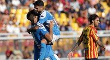 Il Napoli dà spettacolo a Lecce: 4-1 con doppietta di Llorente