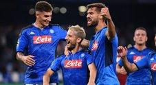 Mertens e Llorente: Napoli da urlo batte 2-0 il Liverpool campione
