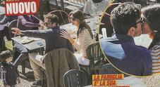 Gigi Buffon e Ilaria D'Amico vita in famiglia: pranzo fuori con il figlio Leopoldo Mattia e gli amici