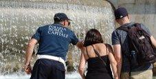 Immagine Bagni nelle fontane, multati tre turisti a Roma
