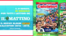 L'album Calciatori Panini in regalo giovedì 24 con il Mattino