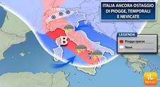Meteo, Italia ostaggio del maltempo. E arriva la neve Previsioni