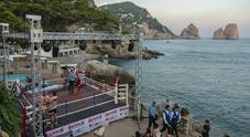 Capri, arti marziali sotto la luna dei faraglioni alla «Canzone del Mare»
