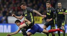 Atletico-Juve 2-0: Gimenez più Godin, per i bianconeri adesso si fa dura