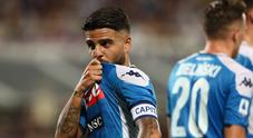 Napoli, pazza vittoria a Firenze: 4-3, doppio Insigne e bufera Var