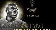 Pallone d'oro, Koulibaly in corsa: «Un'emozione questa nomination»