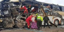 Immagine Incidente tra due pullman, 22 morti e 37 feriti