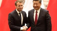 Aeronautica e nucleare, le intese tra Xi e Macron