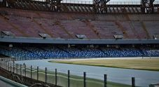 Stadio San Paolo, la pista per l'atletica diventa azzurra