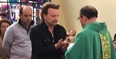 Immagine Bono degli U2 dal Papa per una fondazione