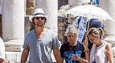 L'attore statunitense Matthew David McConaughey turista speciale tra le antiche domus