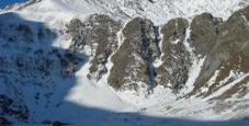 Immagine Scala le cascate di ghiaccio, ferito