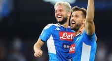 Il Napoli fa festa nel nuovo stadio: doppio Mertens abbatte la Samp