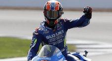 Motogp, sorpresa a Silverstone: Rins beffa Marquez sul traguardo