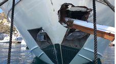 Eolie, scontro fra un traghetto con 350 turisti e uno yacht: cinque feriti, uno è grave