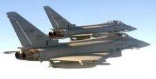 Immagine Due Eurofighter italiani intercettano aereo Usa