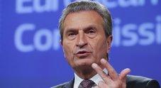 Manovra, Oettinger: «L'Ue chiederà dei ritocchi». Conte: «Non c'è margine»