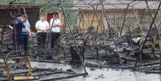 Immagine Tende a fuoco nel camping, morti quattro bambini