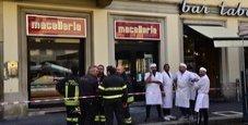 Immagine Crolla soffitto macelleria, clienti feriti a Milano