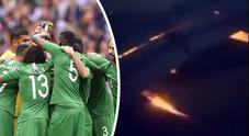 Mondiali, l'aereo dell'Arabia Saudita va a fuoco in volo