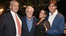 Peppino Di Capri e Monica Sarnelli per festeggiare il professor Santini