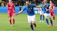Live Italia-Liechtenstein 4-0 Quagliarella ne fa due su rigore