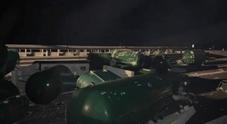 Autocarro pieno di bomboloni di gas si ribalta sull'A2