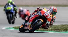 Moto Gp, al Sachsenring vittoria di Marquez con Rossi secondo, terzo Vinales