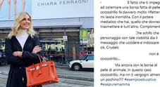 Chiara Ferragni e la borsa di coccodrillo: «Hai le mani sporche di sangue»