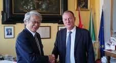 L'ambasciatore giapponese Keiichi Katakami in visita a Sorrento