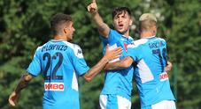 Live Napoli-FeralpiSalò 4-0 Doppio Verdi, Insigne disegna calcio