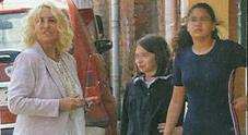 Antonella Clerici mamma, con Maelle per l'ultimo giorno di scuola