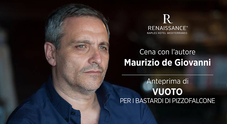 Cena con l'autore Maurizio de Giovanni: anteprima di «Vuoto» per i Bastardi di Pizzofalcone