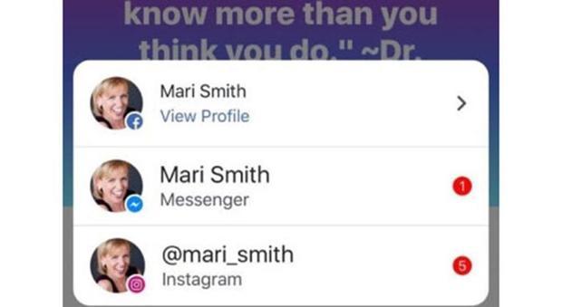 Facebook, Messenger e Instagram: le notifiche saranno in comune