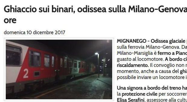 Gelo sui binari, treno Eurocity fermo da ore: 400 persone senza riscaldamento