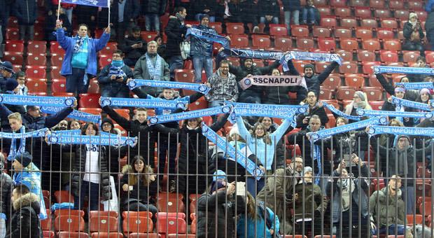 Zurigo-Napoli, le immagini del match (Mosca)