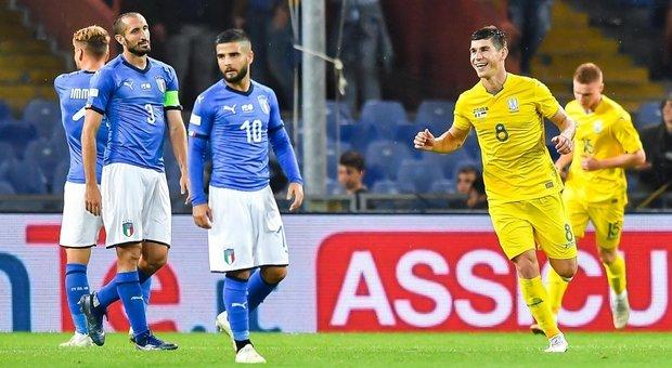 L&#39;Italia di Mancini non vince pi&ugrave;:<br /> solo 1-1 con l&#39;Ucraina di Sheva